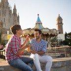 Rialles i petons al Tibidabo, amb en Darío i en Jordi