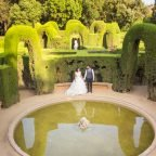 El postboda d'A&S, al Laberint d'Horta